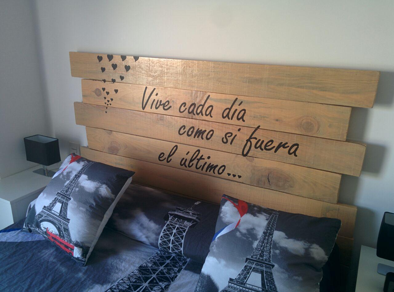 Cabecero palet cabeceros de madera hechos con palets - Cabeceros de cama con palets ...