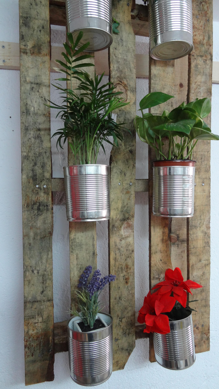 Envejecido entre mesillas for Jardin vertical casero palet