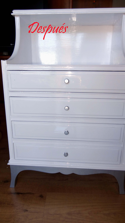 Muebles pintados en plata ideas de disenos - Muebles pintados en blanco ...